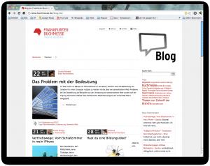 Blog der Frankfurter Buchmesse