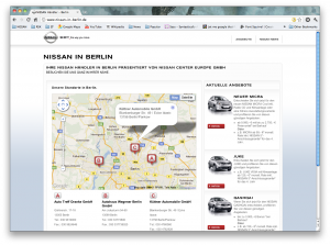 Startseite von NISSAN in Berlin