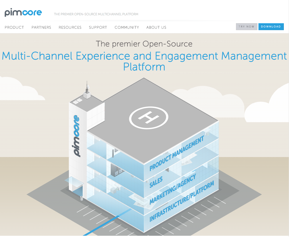Screenshot Pimcore Website